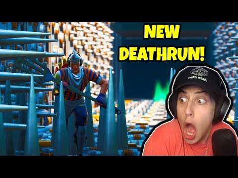 CIZZORZ TRIES *NEW* DEATHRUN!! (Fortnite Creative Map)
