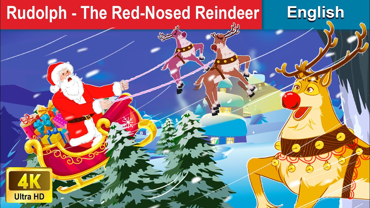 The Red-nosed Reindeer 🦌 Story in English | Stories For Teenagers | WOA Fairy Tales