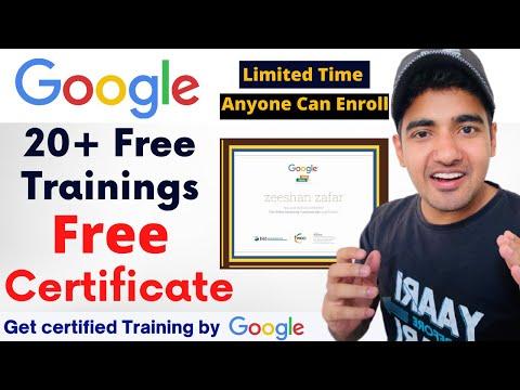 Google 20+ Free Online Trainings | Free Google Certificate | Digital Marketing Courses | Tricky Man