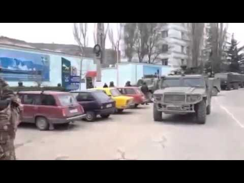 2014/03/01 Balaklava, Crimea - Russian army invaded Ukrainian territory