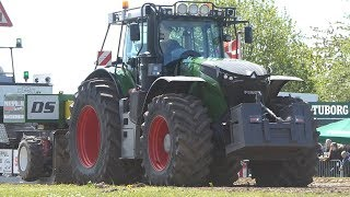 Fendt 1050 Vario Pulling The Heavy Sledge to The Max at Sdr. Vissing Power Pull   Tractor Pulling DK