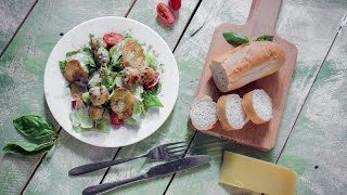 Готовим салат цезарь с кебабами