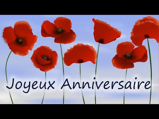 Joyeux Anniversaire Jolie Carte D Anniversaire Virtuelle Youtube