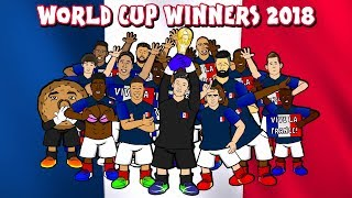 🇫🇷🏆 FRANCE WIN THE WORLD CUP! 🏆🇫🇷 (France vs Croatia 4-2 Highlights Goals Parody 2018)