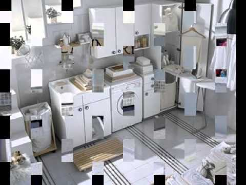 simple small laundry room storage ideas