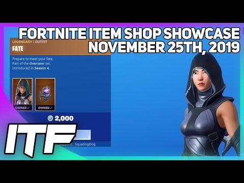 Fortnite Item Shop FATE IS BACK! [November 25th, 2019] (Fortnite Battle Royale)