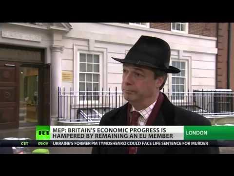 Russia Today - UKIP Nigel Farage,  UK stuck in shrinking, old-fashioned EU - Jan 2013