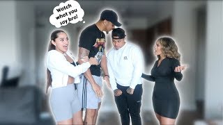 FLIRTING With My FRIEND'S GIRLFRIEND In Front Of Him PRANK!! | FT. KB and Karla