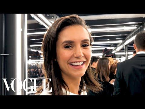 Nina Dobrev Gets Ready for the Louis Vuitton Fashion   Vogue