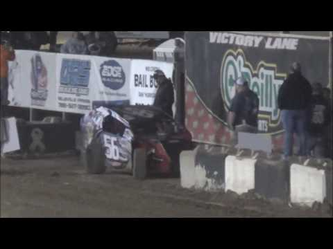 Salina Speedway *Mid America Clash 4* Auto House Towing Modified Lites A Feature 10-1-16