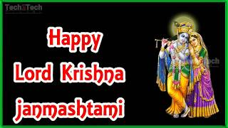 Happy sri krishna Janmashtami Cards, Free Janmashtami Wishes, Greeting Cards