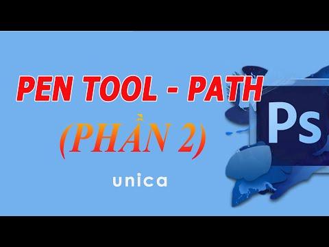 Học Photoshop - Tìm hiểu công cụ Pen Tool - Path (Phần 2) trong Photoshop kiến trúc