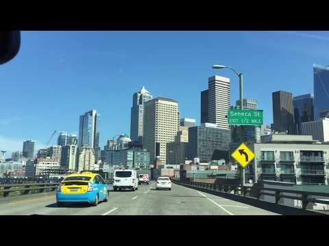 Seattle Washington Driving through city | Downtown