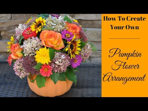 Create A Pumpkin Floral Arrangement Cranbury Fields