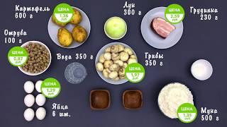 Домашние рецепты - Пирожки из отрубей с картофелем и грибами