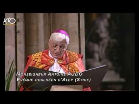 Messe de l'Oeuvre d'Orient célébrée par Mgr Audo évêque chaldéen d'Alep à Notre Dame de Paris