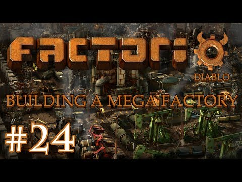 Factorio - Building a Mega Factory: Part 24 finishing the new smelting area.