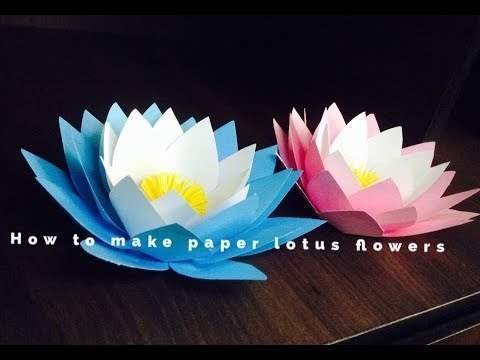How to make paper lotus flowers
