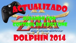 TUTORIAL Dolphin Zelda Skyward Sword y Como usar control Xbox 360/One 2014 COMPROBADO JALANDO AL 100