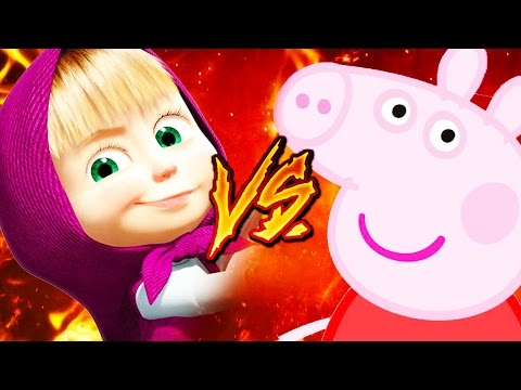 PEPPA PIG VS MASHA RAP 2017 || YKATO & MCENERGY