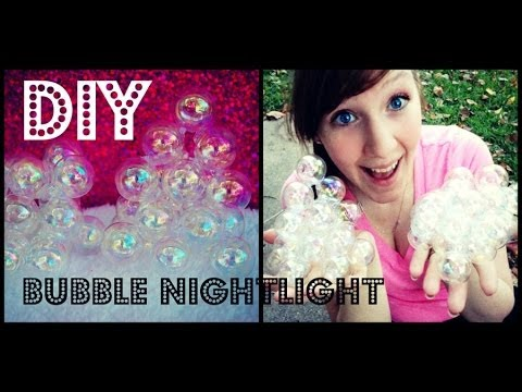 Diy Bubble Night Light Cool Fake Bubbles Youtube