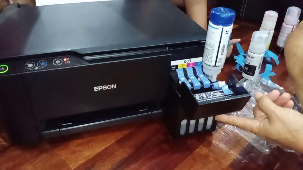 Cara Setting Printer Baru - Epson L3110 - YouTube