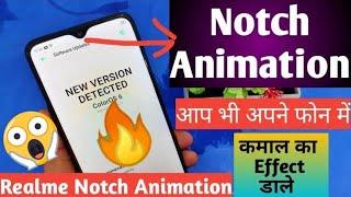 Realme Notch Animation 🔥| Notch Battery indicator and Music visualiser |