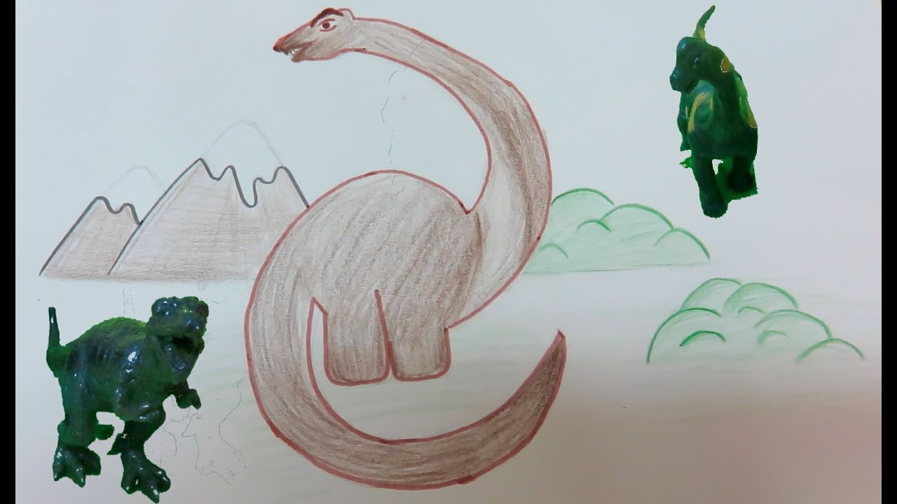 Uncategorized How To Draw Dinosaur Step By Step how to draw dinosaur step by youtube