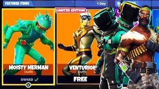 *NEW* SKINS LEAKED in Fortnite! - Fortnite Battle Royale Venturion, Moisty Merman, & Bandolier SKINS