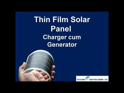 Thin Film Solar Panel Charger Cum Generator
