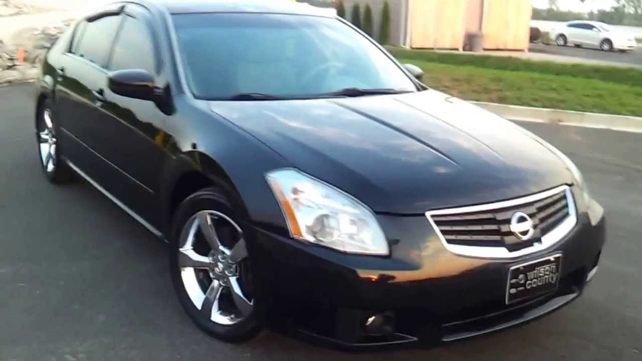 sold 2007 nissan maxima se 3 5 leather moonroof 117k for sale at wilsoncountymotors com youtube. Black Bedroom Furniture Sets. Home Design Ideas