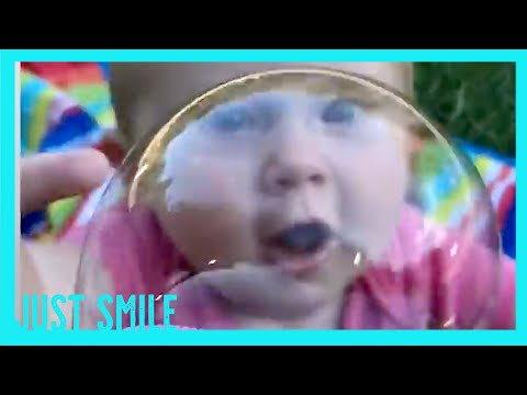 Funny Baby Playing With Balloon And Bubble  - JustSmile