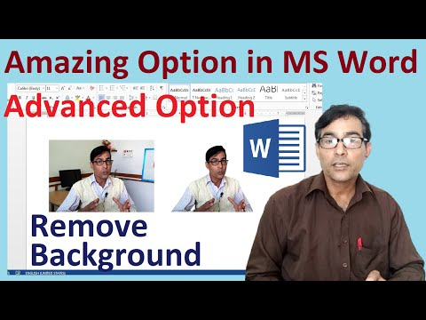 Remove Image Background in Ms word | Change Background Color | Advanced option in MS Word tutorial