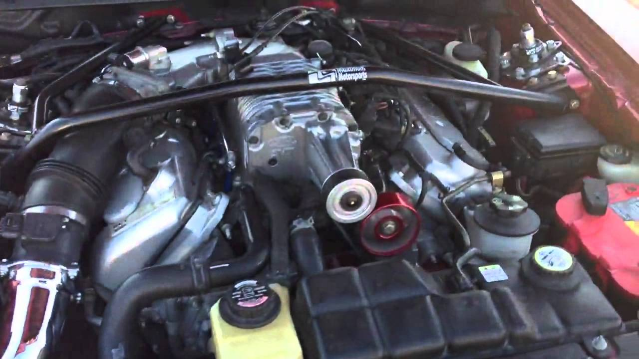 2004 Mustang Cobra Supercharged Engine - YouTube