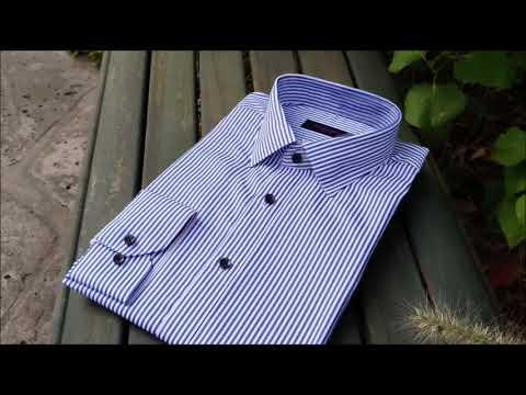 남자셔츠 긴팔 와이셔츠 슬림핏 스트라이프셔츠 오마샤리프 40514