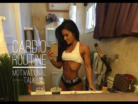 CARDIO Routine - Motivational Talk - Prep Food| Bikini Prep 5
