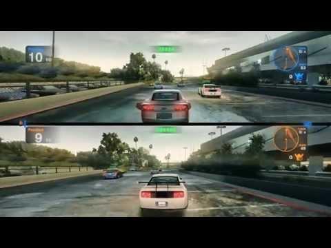 Blur Gameplay PC HD 2 Player Splitscreen : LA River Concrete Basin