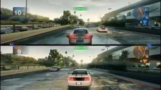 Blur Gameplay PC HD 2 Player Splitscreen : LA River Concrete Basin