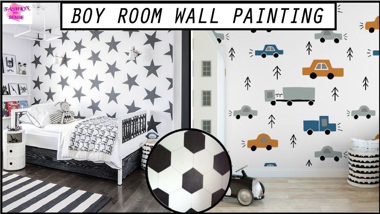 Different Wall Painting Ideas For Kids Kids Boys Room Wall Decorating Wall Art Painting Ideas Youtube