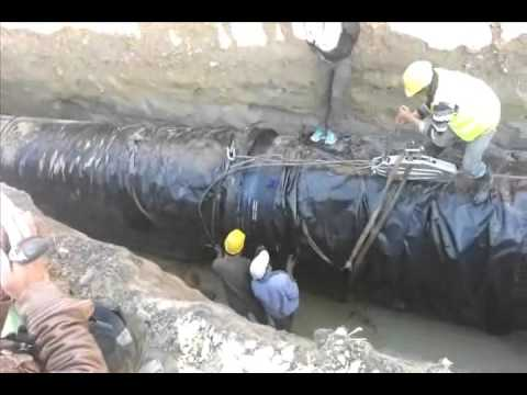 DI pipe laying works in Nepal