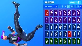 *NEW* Fortnite Catalyst Short Sleeve Black Skin Showcase with All Dances & Emotes Season 10 Outfit