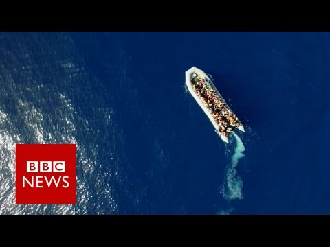 On the rescue boat as migrants flee Libya. - BBC News