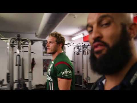RLWC 2017 Rugby AM Vlog 7 - George Burgess tour of South Sydney Rabbitohs training facility