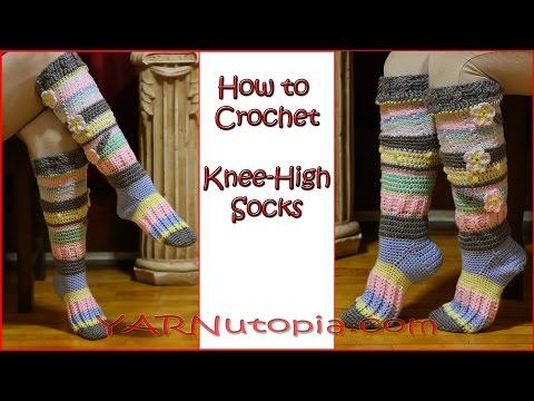Crochet Tutorial: Knee High Socks