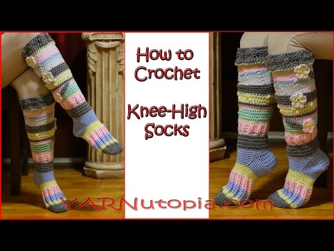 Crochet Tutorial: Knee High Socks