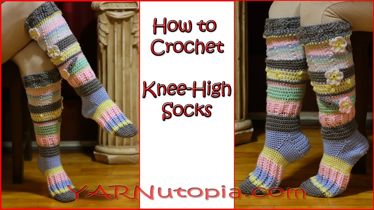 Crochet Tutorial Knee High Socks Youtube