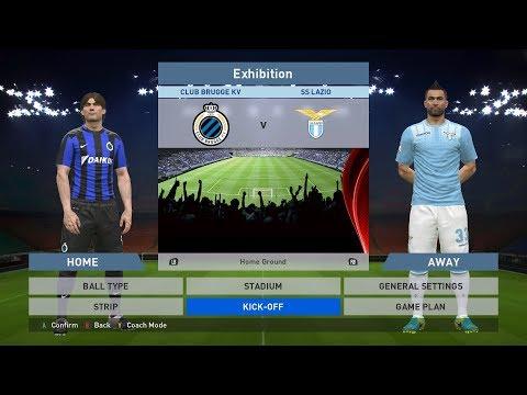 Club Brugge KV vs SS Lazio, Jan Breydel Stadion, PES 2016, PRO EVOLUTION SOCCER 2016