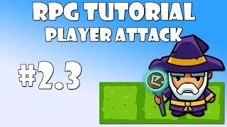 23 unity rpg tutorial   player attack