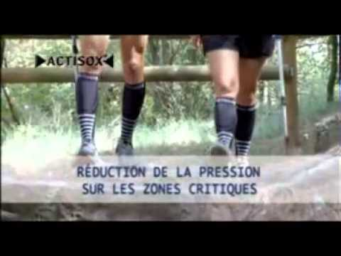 chaussettes decompression actisox youtube. Black Bedroom Furniture Sets. Home Design Ideas