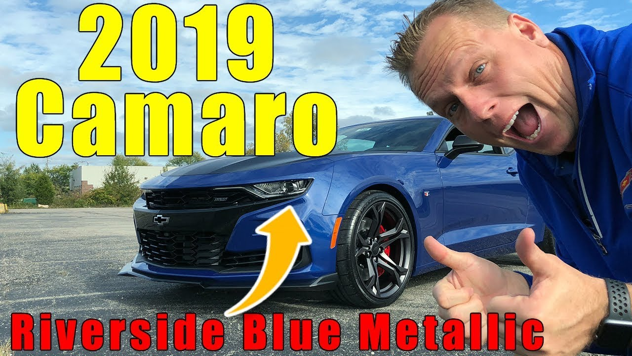 2019 Chevy Camaro 1LE full overview, PLUS new color Riverside blue metallic,. - YouTube